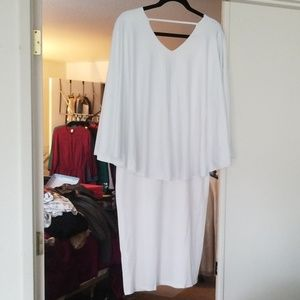 Dresses & Skirts - White Cape Cocktail dress
